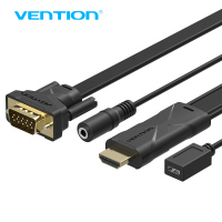 Vention HDMI To VGA Converter Cable With 3 5mm Audio HDMI VGA Adapter With Power 1080P
