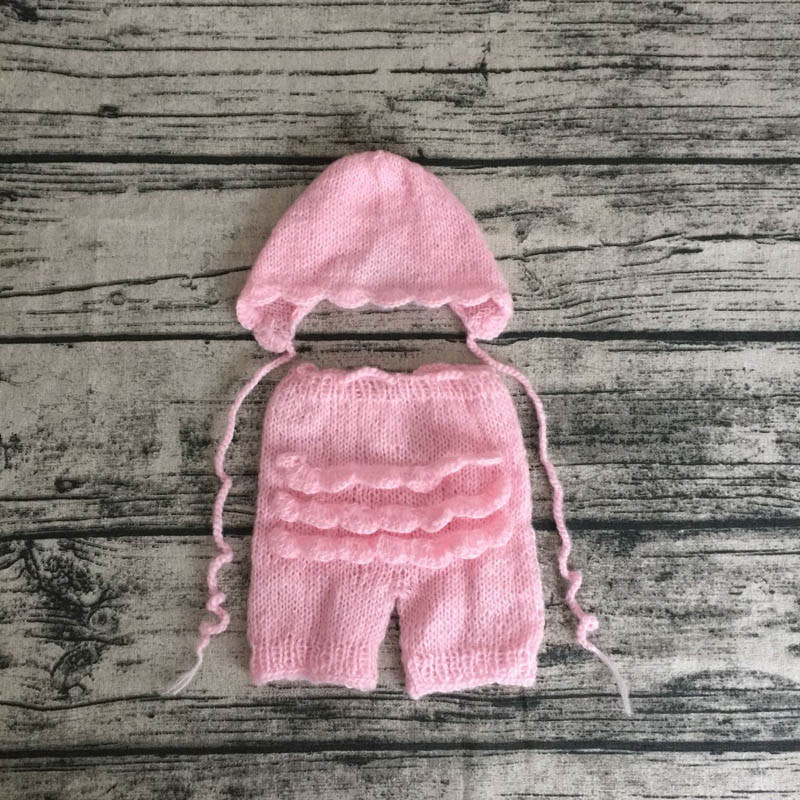 long Hat and Trousers set Newborn Baby Photography Prop Knitted Mohair Baby Boy Girl beanie pants Infant Costumes Newborn Outfit