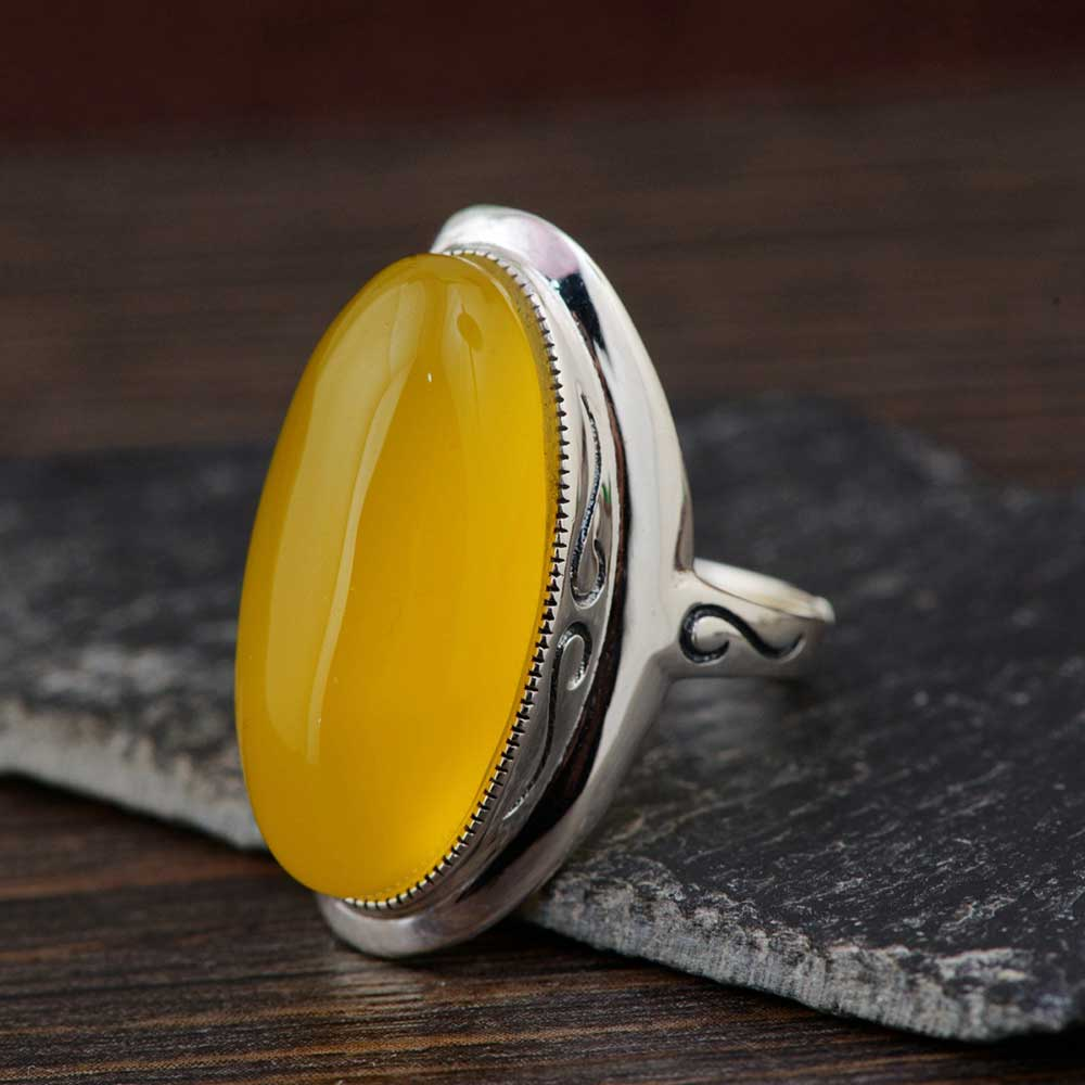 FNJ 925 Silver Ring White Green Yellow Chalcedony Red Zircon S925 Sterling Thai Silver Rings for Women Jewelry Adjustable Size equte rssw30c1s7 fashionable titanium steel two zircon women s ring silver white us size 7