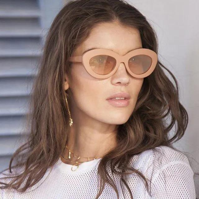 2019 Fashion Vintage Oval Sunglasses Women Men Brand Designer Luxury Original Color Cat Eye Sun Glasses For Female Eyewear UV400