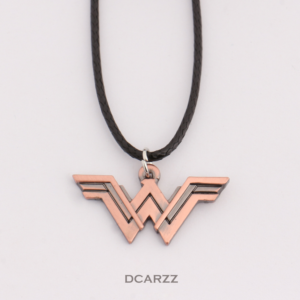 2 colors dc wonder woman logo pendant comic geek necklace with 2 colors dc wonder woman logo pendant comic geek necklace with leather cord marvel super heroes jewelry in pendant necklaces from jewelry accessories on aloadofball Image collections