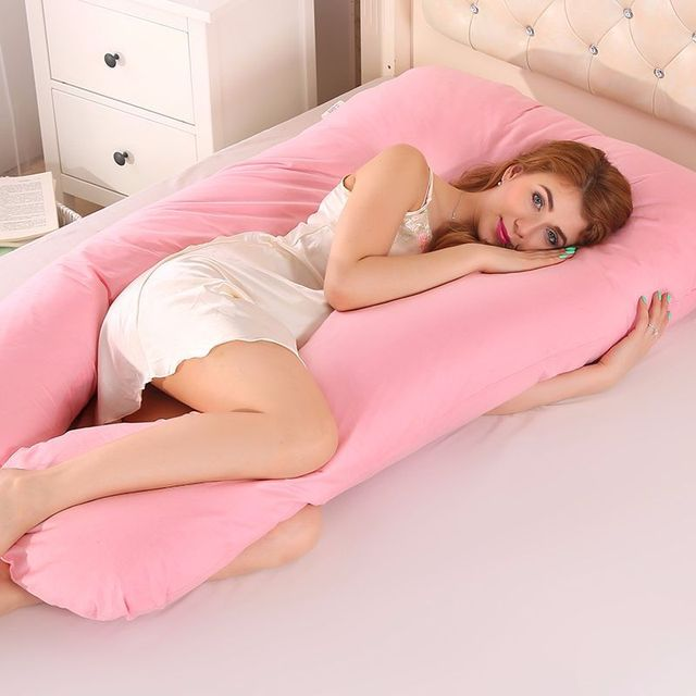 Big U Type Pregnancy Pillows Body Pillow for Pregnant Women Best For Side Sleepers Removable Big Pregnancy Pillow For Neck