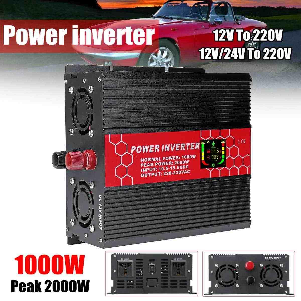 24 V 220 V Интеллектуальный экран 2000 W инвертор питания P eak-модифицированный синусоидальный трансформатор инвертор