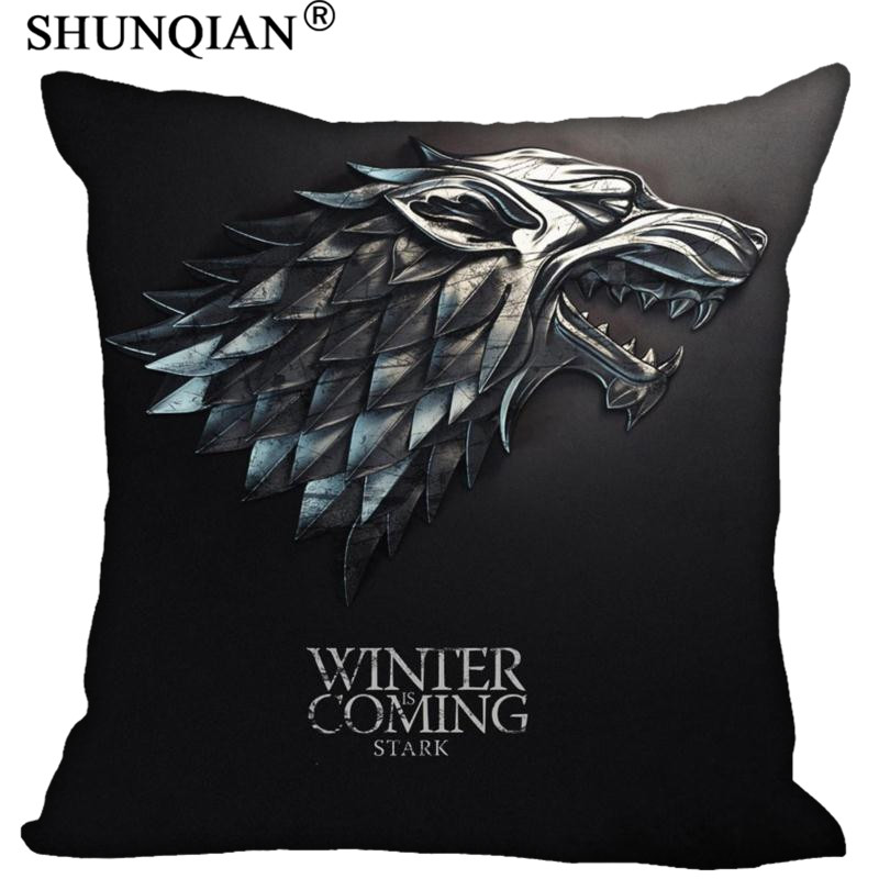H+P#83 New Hot Custom Pillowcase game of thrones soft 45x45 cm (Twin sides) Pillow Cover Zippered SQ01003@H083 image
