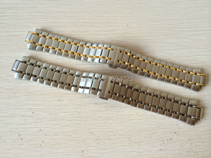все цены на 12mm T077417 NEW Pure Solid Stainless steel prx Watchband Watch Strap Bracelets For T077 онлайн