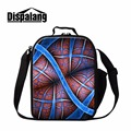 Dispalang creative design insulated children lunch bags striped thermal lunchbox portable lunch cooler bag for school food bag