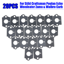 цена на 20pcs Carburetor Rebuild Gaskets Set Gray Accessories For Echo Weedeater Zama & Walbro Carb Stihl Craftsman Poulan