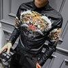Mens Designer Shirts 2018 New Long Sleeve Mens Luxury Gold Shirt Camisa Slim Fit Tiger Print