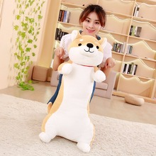 BABIQU 1pc 60cm Cute Dog Pillow Stumbling Husky Shiba Long Body Plush Toy Soft Stuffed Doll High Quality Kid Lovely Kawaii gifts