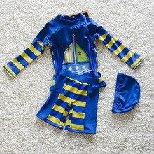 Unisex children bathing suit Boys Girls children's swimwear LONG Sleeved Swimsuit – Kids Sleeved Top Shorts Swim Trunks Swimwear