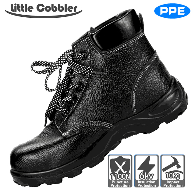 Men Women Safety Steel Toe Work Shoes  Leather Boots Breathable Polyurethane Rubber Puncture Proof Labor Insurance Shoes