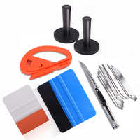FOSHIO Window Tint Tools Kit Vehicle Wrap Squeegee Vinyl Carbon Foil Film Car Stickers Magnetic Holder Cutter Knife Tool Set