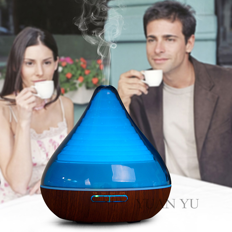 ФОТО Hot selling Ultrasonic Air Aroma Humidifier Colorful LED Lights Electric Aromatherapy Essential Oil Aroma Diffuser 300ml 12W