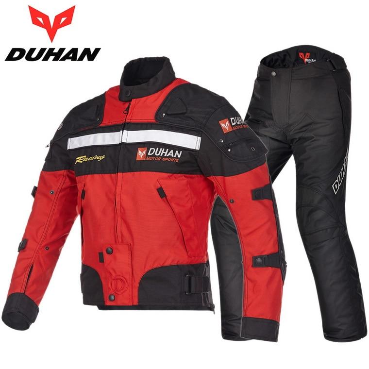 DUHAN moto veste de costume de course pantalon hiver chaud moto rcycle vêtements d'équitation costumes moto rbike vestes pantalons vêtements D-020 et DK-09 - 3