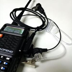 Image 5 - 5 PCS Air Akoestische Buis Headset voor Walkie Talkie Baofeng Radio K Poort Oortelefoon PTT met Microfoon voor UV 5R 888 s Guard Oordopjes