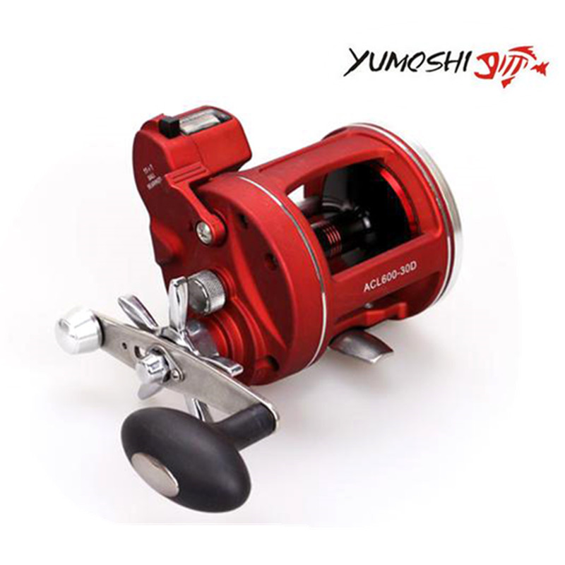 YUMOSHI 2017 New 12Ball Bearings Drum Baitcasting Reels Fishing Reels Lure Tackle Trolling Boat Saltwater Round Reel nunatak original 2017 baitcasting fishing reel t3 mx 1016sh 5 0kg 6 1bb 7 1 1 right hand casting fishing reels saltwater wheel