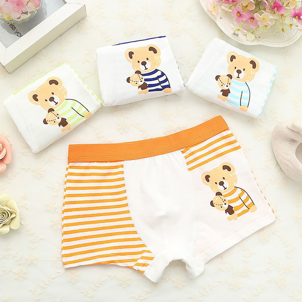 4 Pcs/lot Cartoon Boys Underwear Soft Breathable Kids Boxer For 5-12Yrs Baby Panties Kawaii Boy Briefs Underpants трусы детские