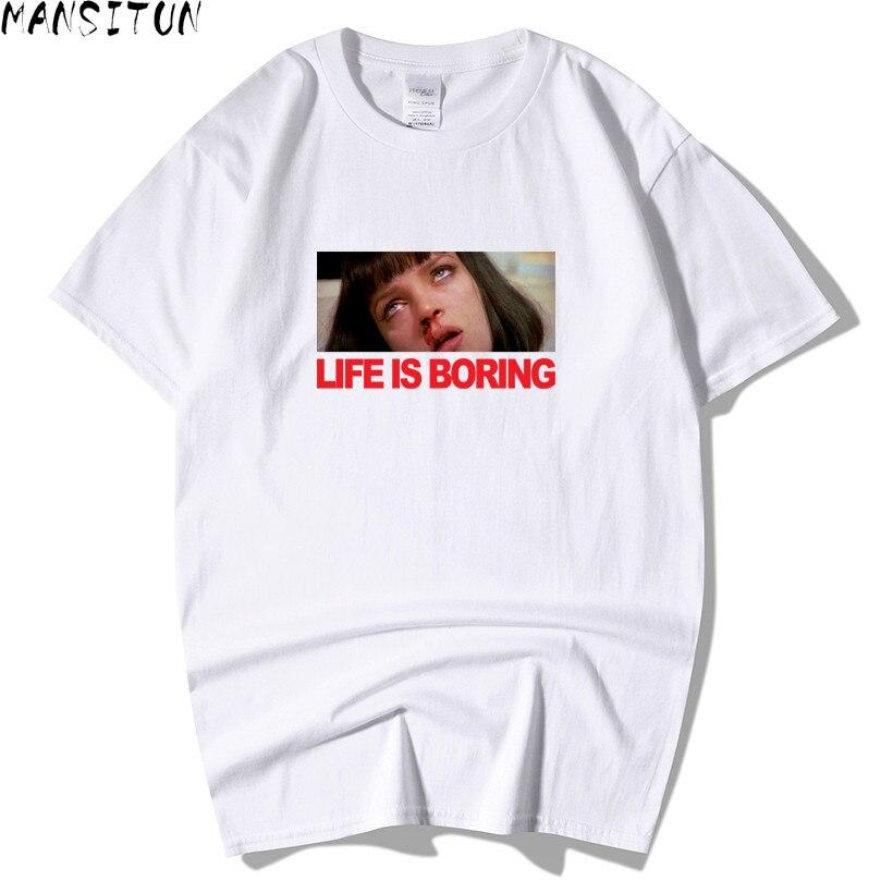 2018 nouvelle mode vie est ennuyeux t-shirt marque vêtements Hip Hop lettre 3D impression hommes t-shirt à manches courtes Anime de haute qualité