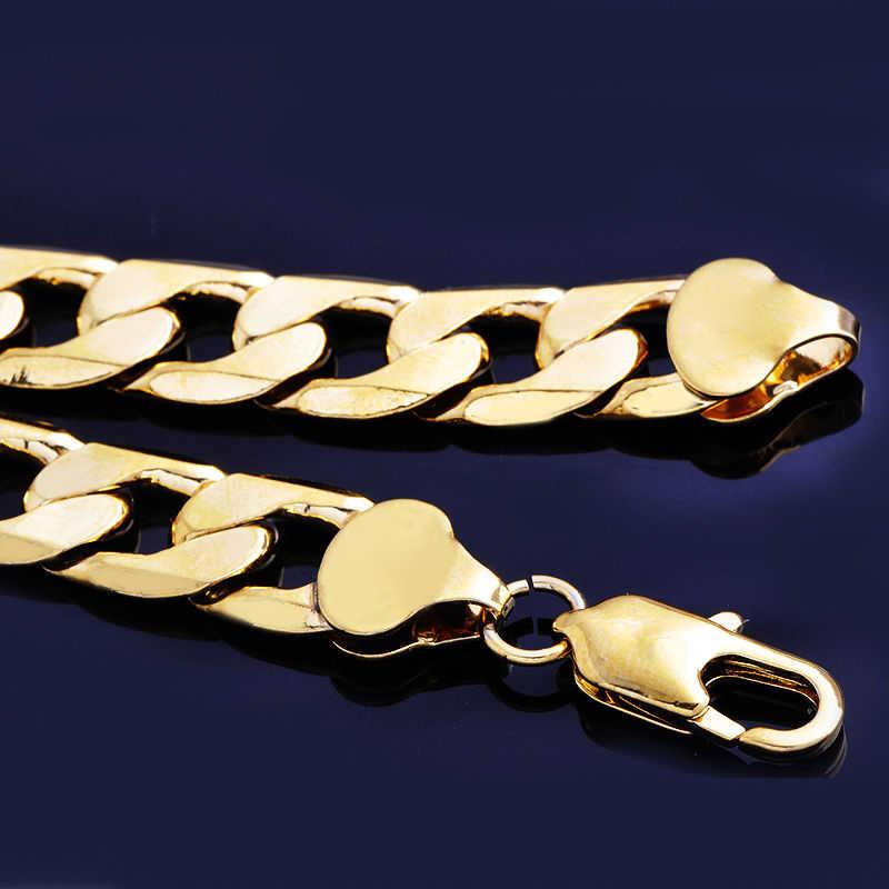 היפ הופ תכשיטי גברים מוצק לרסן קישור שרשרת פאנק הצהרת נשים זהב שרשרת ארוך שרשרת רוק ראפר שרשרת קסם מתנה