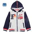 Los niños ropa de bebé patrón bot chaqueta con cremallera de algodón de manga larga carta moda para niños ropa nueva llegada