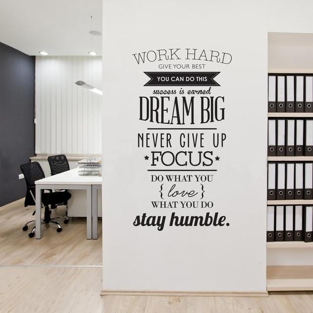 US $10.29 |3D Tapeten Englisch Buchstaben Inspirierende Wandaufkleber  Wohnzimmer Büro Dekorationen TV Wände Selbstklebende Wandmalereien in 3D ...