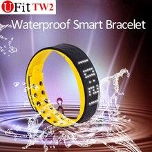 caixa impermeável bracelete inteligente TW2 monitor de esporte exibição de tempo Fitness Tracker Android pulseira smartband smartwatch