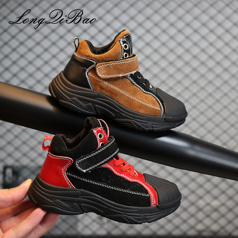 2018 autumn childrens shoes boys leather casual shoes high to help old shoes Korean version of Martin boots girls boots2018 autumn childrens shoes boys leather casual shoes high to help old shoes Korean version of Martin boots girls boots