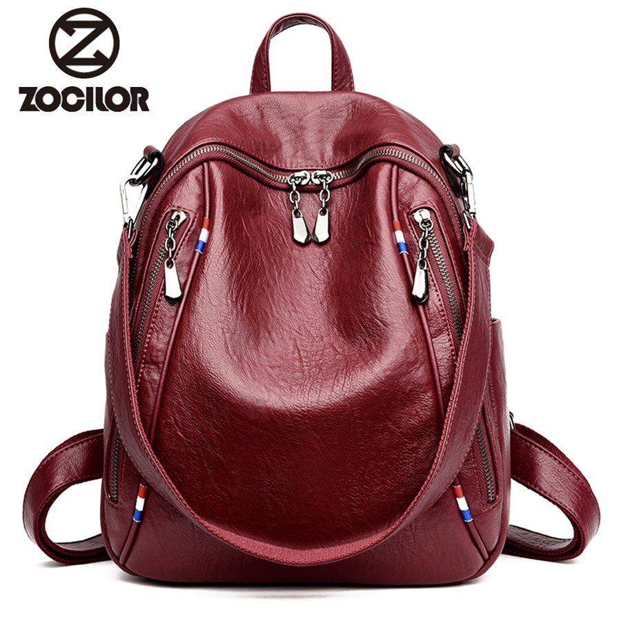 2018 Fashion Women Backpack pu Leather Vintage Backpacks for Teenage Girls Female School Bag Bagpack mochila sac a dos women bag british style printing vintage backpack female cartoon school bag for teenagers high quality pu leather backpack sac a dos femme