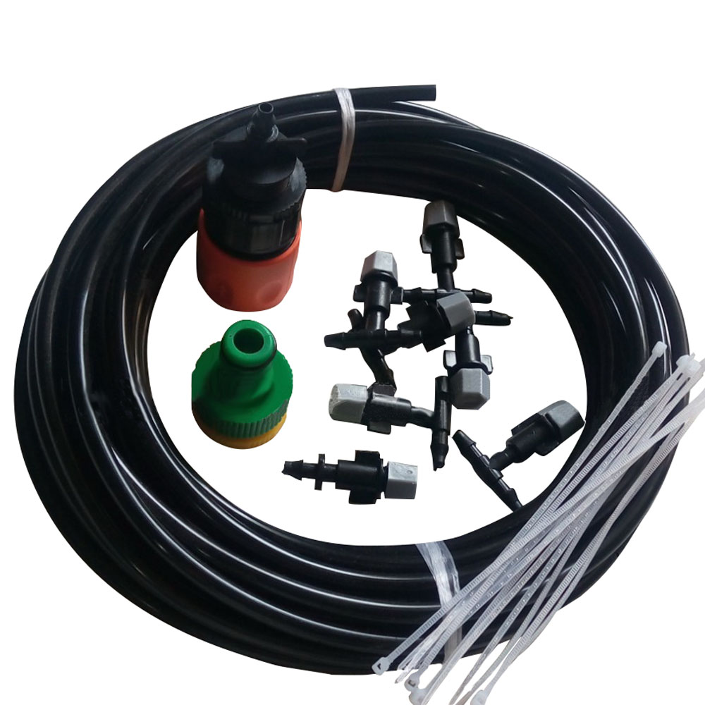 10m Garden Nozzles Irrigation Spray Micro Drip Irrigation System 1set Portable Misting Automatic Garden Plant Watering Kits