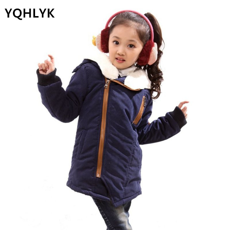 b028bae4dce2 Children Jacket 2018 New Fall Winter Girl Coat Hooded Thicken Boy ...