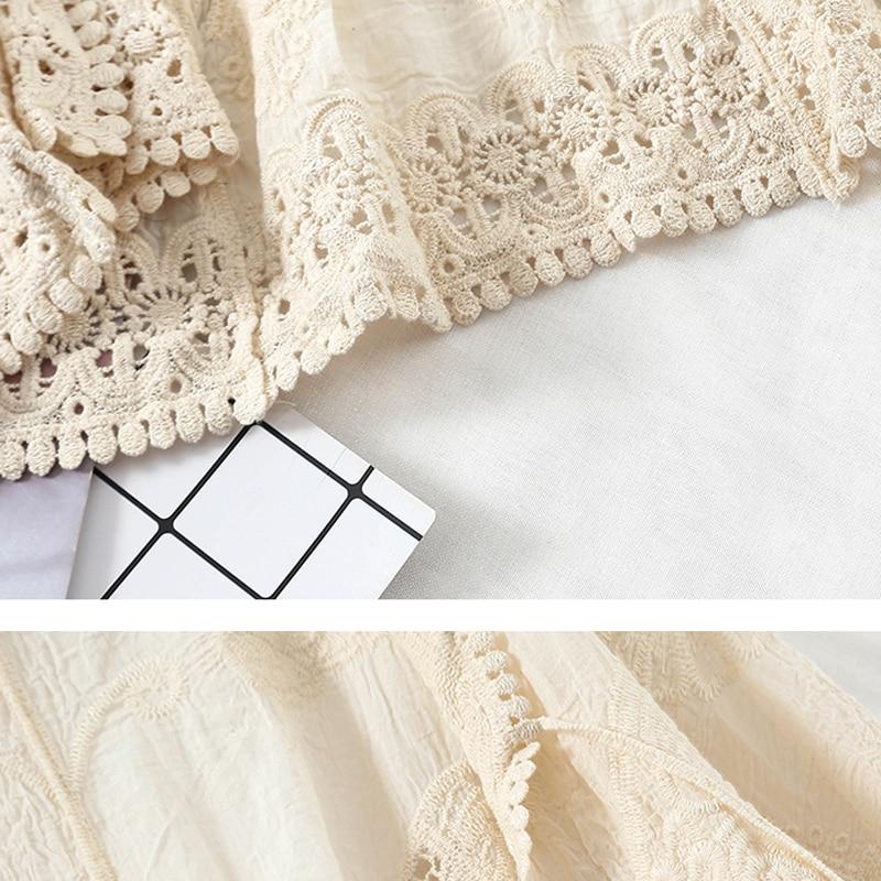 Crochet Lace Cardigan Beach Kimono Embroidery Summer Cardigan Women 2019 Korean Fashion Clothing Vintage White Shirt Harajuku in Blouses amp Shirts from Women 39 s Clothing