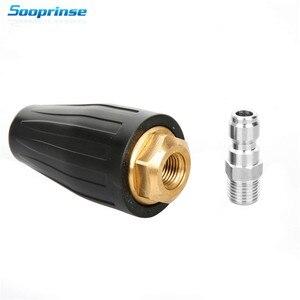 Image 1 - 2020New Sooprinse Universal Druck Washer Turbo Düse für Hochdruck Outlet Fitting Rotary 1/4 zoll Schnell Verbinden 4000PSI