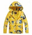 Мальчики одежда миньон гадкий я 2 Цвета ватные куртки ребенок верхняя одежда С Капюшоном пальто мультфильм мальчик одежды детей Вниз Парки