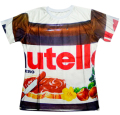 Summer Fashion women/men 3d t shirt Nutella spoof fun lifelike food chocolate sauce harajuku food t-shirt Free shipping