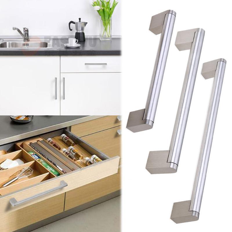 Door Kitchen Handles Cabinet Cupboard Drawer Handle Pull T Bar Stainless Steel