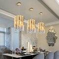 Небольшой круглый золотой k9 хрустальный светодиодный Современный Люстра светильник ing для кухни столовой спальни прикроватный светильник ...