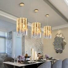 Kleine Ronde Gouden K9 Kristal Moderne Led Kroonluchter Voor Woonkamer Keuken Eetkamer Slaapkamer Bed Luxe Indoor Verlichting
