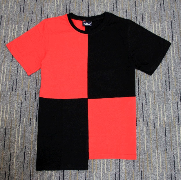 Half red black New Designer 2018 Men Summer Extended ...