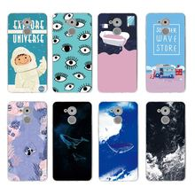 Coloured drawing fish green eye summer Soft TPU Phone Case For huawei P10lite P10plus P8 P9 honor 6A 3C 4c 7 8 9 5a 5c C129(China)