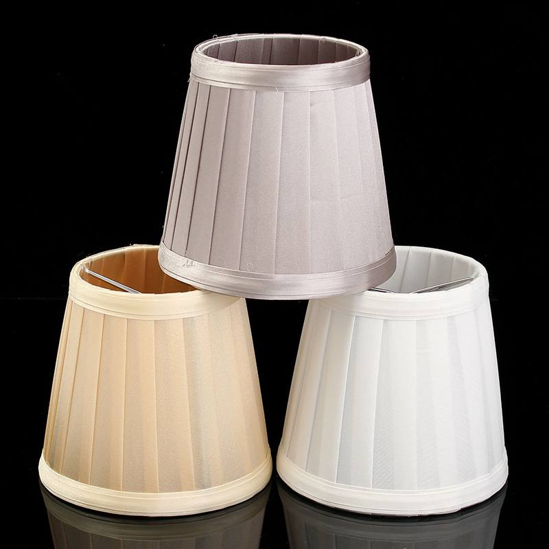 Top Quality  Modern Chandelier Ceilling Light Lamp Fabric Lampshade Table Wall Lamp Cover European Style 3 Colours