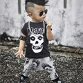 Fashion Baby Boy Toddler Kids Tracksuit Casaul Tops Long Pants 2pcs Outfits Sets