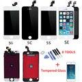 AAA Замена Полный ЖК-Экран Для iPhone 4 4S 5 5S 5C SE Жк-Дисплей с Сенсорным Дигитайзер Ассамблеи + Закаленное Стекло Пленка + инструменты