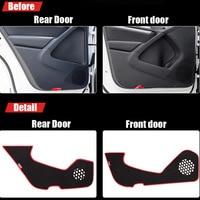 4pcs Fabric Door Protection Mats Anti kick Decorative Pads For Volkswagen Tiguan