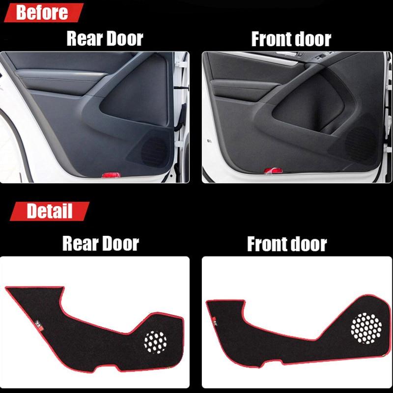 Ipoboo 4pcs Fabric Door Protection Mats Anti-kick Decorative Pads For Volkswagen Tiguan ipoboo 4pcs fabric door protection mats anti kick decorative pads for hyundai elantra 2012 2015