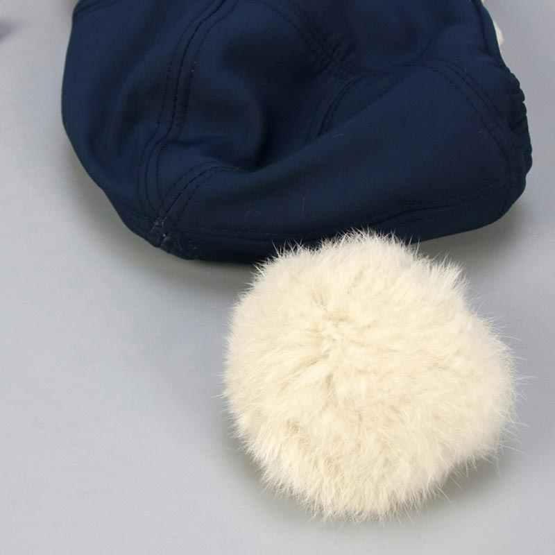 เด็กทารกฤดูหนาว Beanie หมวก PomPom ป้องกันหูหมวกสำหรับเด็กทารกเด็กชาย Plus กำมะหยี่ผ้าฝ้าย Five Star หมวกเด็กอุปกรณ์เสริม