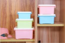 1PC Candy Color Storage Box Home Useful Plastic Small/Large/Middle Case Desk Organizer LF 249
