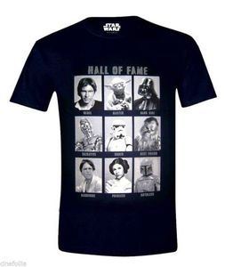 T-shirt Star Wars Hall of Fame Guerre Stellari maglia Uomo ufficiale T shirt Tops Summer Cool Funny T-Shirt