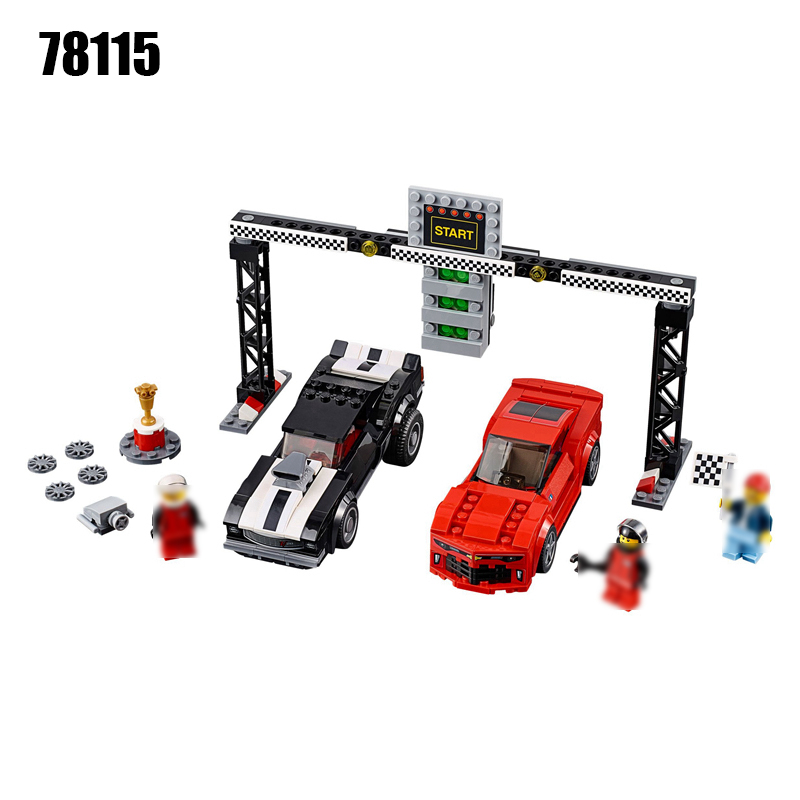 78115 Speed Champions Camaro Drag Race Building Block Set Kids Bricks DIY Toys for Children Compatible with 75874 Toy breakfast for champions