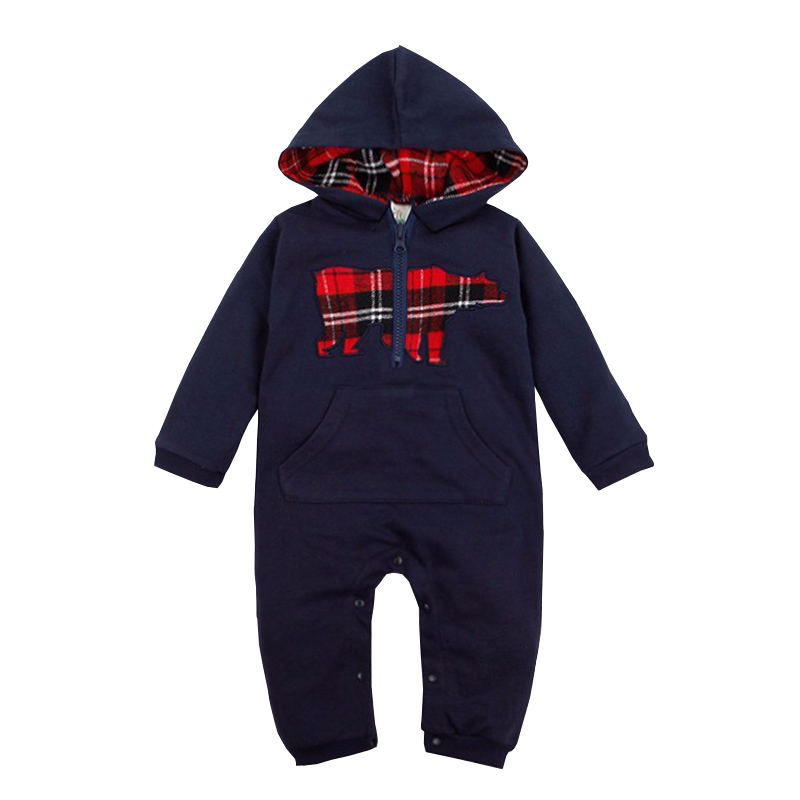 Baby Rompers 2017 Fashion Brand Ropa De Bebe Long Sleeve Hooded Cotton Baby Costume Spring Autumn Romper Newborn Baby Clothes baby boys girls clothes newborn bebe rompers costume short sleeve ropa de bebe 100%cotton clothing 5pcs lot unisex 0 9months