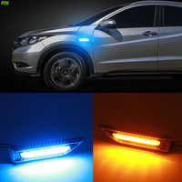 FLYJ 2PCS 3D LED Car Sticker Personality Mini Side ABS Knife Type Turn Signal License Plate